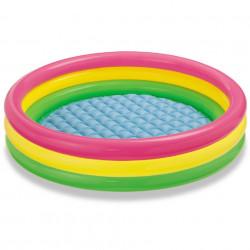 Piscină pentru copii Intex 114 x 25 cm multicolor cu 3 inele