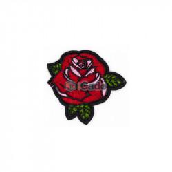 Trandafir brodat 6.5x5.5cm