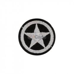 Emblema brodata cu stea 3.5x3.5cm