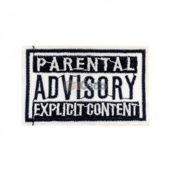 Emblema brodata Parental Advisory 6.5x4cm