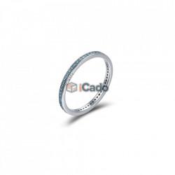 Inel din argint Luminous CZ Round