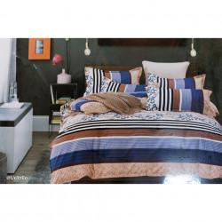 Lenjerie de pat cu 6 piese din bumbac finet 240 x 220 cm LP6PF-42