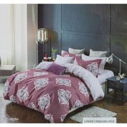 Lenjerie de pat cu 6 piese din bumbac finet 250 x 230 cm LP6PF-21