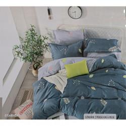 Lenjerie de pat cu 6 piese din bumbac finet 250 x 230 cm LP6PF-2