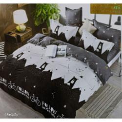 Lenjerie de pat cu 6 piese din bumbac satinat 250 x 230 cm LP6P-12