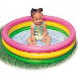 Piscină pentru copii marca Intex, dimensiune 114 x 25 cm, multicolor cu3 inele poza 2