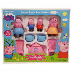 Purcelușii Peppa Pig la ceai - Set de 4 figurine