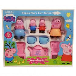 Purcelușii Peppa Pig la ceai - Set de 4 figurine