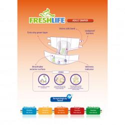 Scutece Fresh Life pentru bătrâni