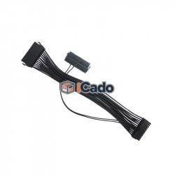 Cablu adaptor ATX 24 pin de 30cm pentru Mineri, Conectare 2 surse de alimentare poza 2