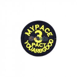 Emblema brodata cu MYPACE 3 PACT 5.5x5.5cm