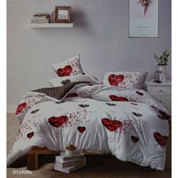 Lenjerie de pat cu 6 piese din bumbac finet 250 x 230 cm LP6PF-12