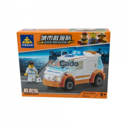 Mașină Ambulanță model KY85011 cu 92 piese tip LEGO poza 1