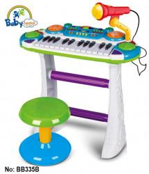 Orgă cu microfon și scăunel pentru copii BB335B