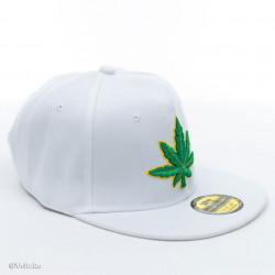 Șapcă logo Marijuana albă