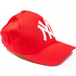 Șapcă roșie logo New York alb