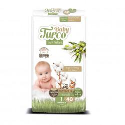 Set 40 Scutece Bumbac, Vegane pentru Bebeluși 2 - 5 Kg Numărul 1