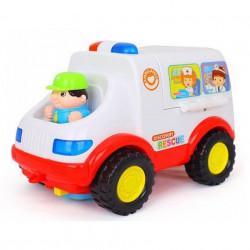 Ambulanță cu sunete, lumini și accesorii