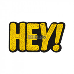 Emblema brodata Hey! 8.5x5cm