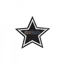 Emblema brodata in forma de stea 7x7cm