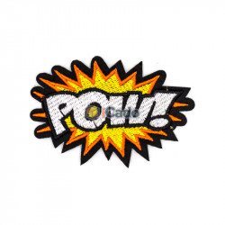 Emblema brodata POW! 9x6cm