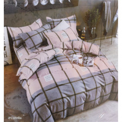 Lenjerie de pat cu 6 piese din bumbac finet 240 x 220 cm LP6PF-34