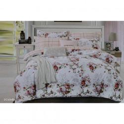 Lenjerie de pat cu 6 piese din bumbac satinat 250 x 230 cm LP6P-4