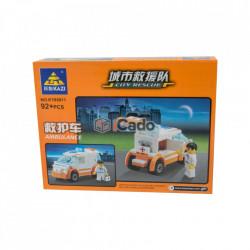 Mașină Ambulanță model KY85011 cu 92 piese tip LEGO poza 2