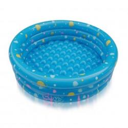 Piscină pentru copii marca InTime, dimensiune 130 x 40 cm cu3 inele albastru