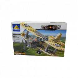 Avion F1 Camel cu 126 piese de tip LEGO model KY82001 poza 1