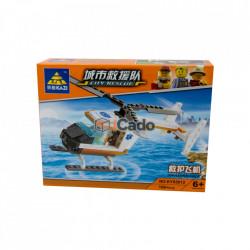 Elicopter Ambulanță cu 108 piese de tip LEGO KY85012