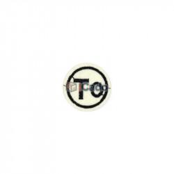 Emblema brodata cu mesaj 4x4cm