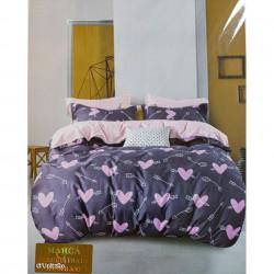 Lenjerie de pat cu 6 piese din bumbac satinat 250 x 230 cm LP6P-15