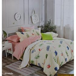 Lenjerie de pat cu 6 piese din bumbac satinat 250 x 230 cm LP6P-5