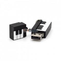 Memorie USB de 16GB în formă de pian (Alb / Negru) poza 3