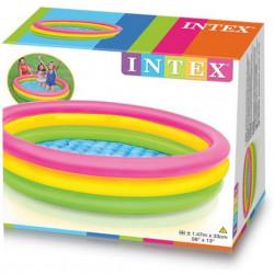 Piscină pentru copii marca Intex, dimensiune 147 x 33 cm, multicolor cu3 inele poza 3
