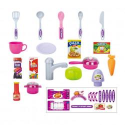 Accesoriile setului de bucătărie pentru copii