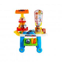 Supermarket de jucărie cu scanner și casă de marcat