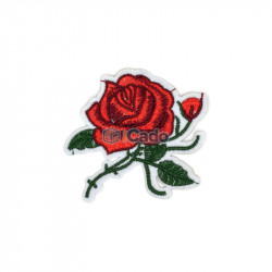 Trandafir brodat 8x7cm