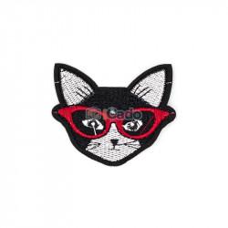 Cap de pisica brodat 6.5x5.5cm