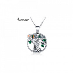 Colier din argint Rely Tree of Life Pendant Necklaces Clear CZ