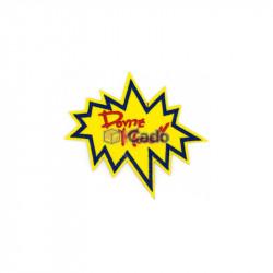 Emblema brodata cu mesaj 12.5x11.5cm