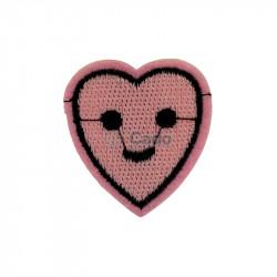 Emblema brodata in forma de inima 3.5x3.7cm
