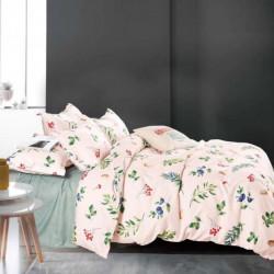 Lenjerie de pat cu 6 piese din bumbac satinat 250 x 230 cm LP6P-2