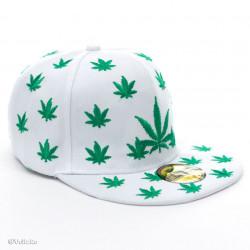 Șapcă Marijuana albă