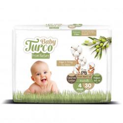 Set 30 Scutece Bumbac, Vegane pentru Bebeluși 8 - 14 Kg Numărul 4