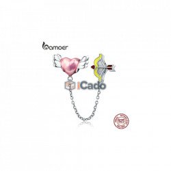 Talisman din argint Romantic Heart Cupid Arrow