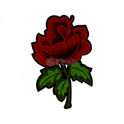Trandafir brodat 8x12cm