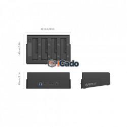 4 Bay Docking Station - USB 3.0, SSD / HDD - 2.5 / 3.5 poza 2