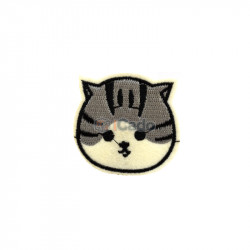 Cap de pisica brodat 5x5cm